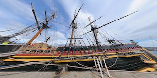 HMS Bounty at the Barbican Plymouth